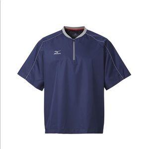 NWT navy & grey mizuno batting/cage jacket yth XL
